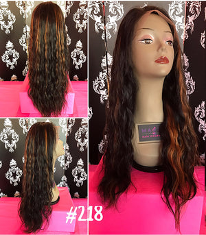 "22"", front lace, wavy"
