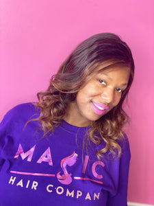 16 straight glueless front lace wig custom color ombre