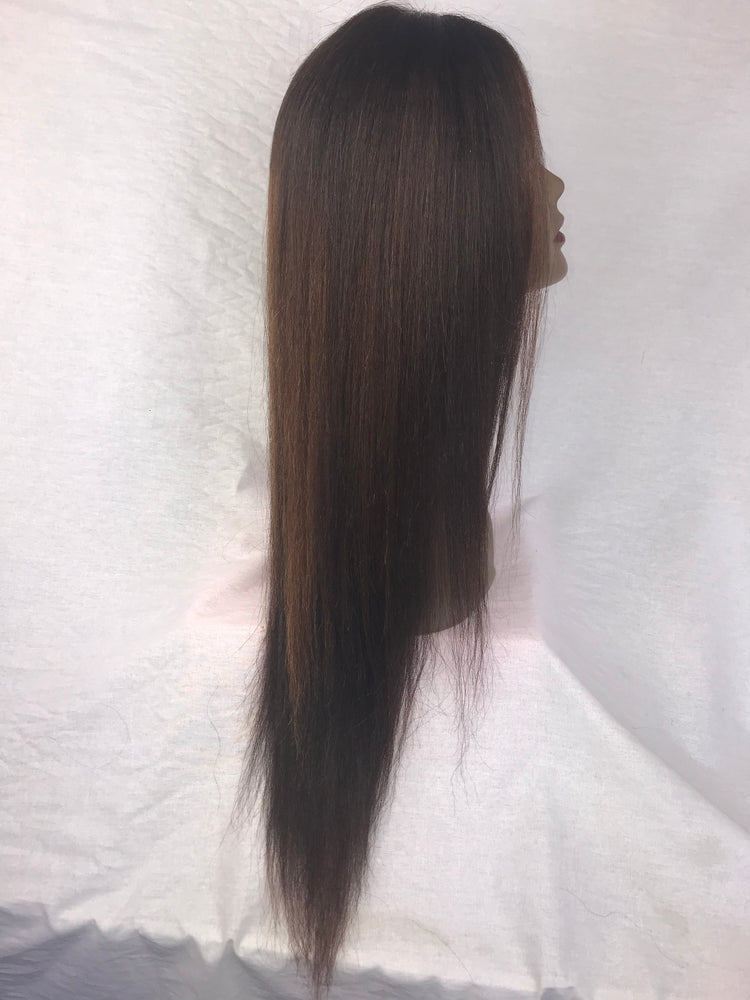 "20"", Kinky Straight, Front Lace, Custom Colored"