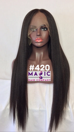"24"", kinky straight, Front Lace"