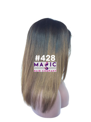 "16"" Straight, brown Ombre  Front Lace"