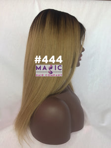"14"", Straight, front lace, Dirty Blonde"