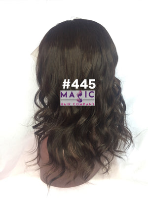 "14"", Straight, front lace, #4 Brown"