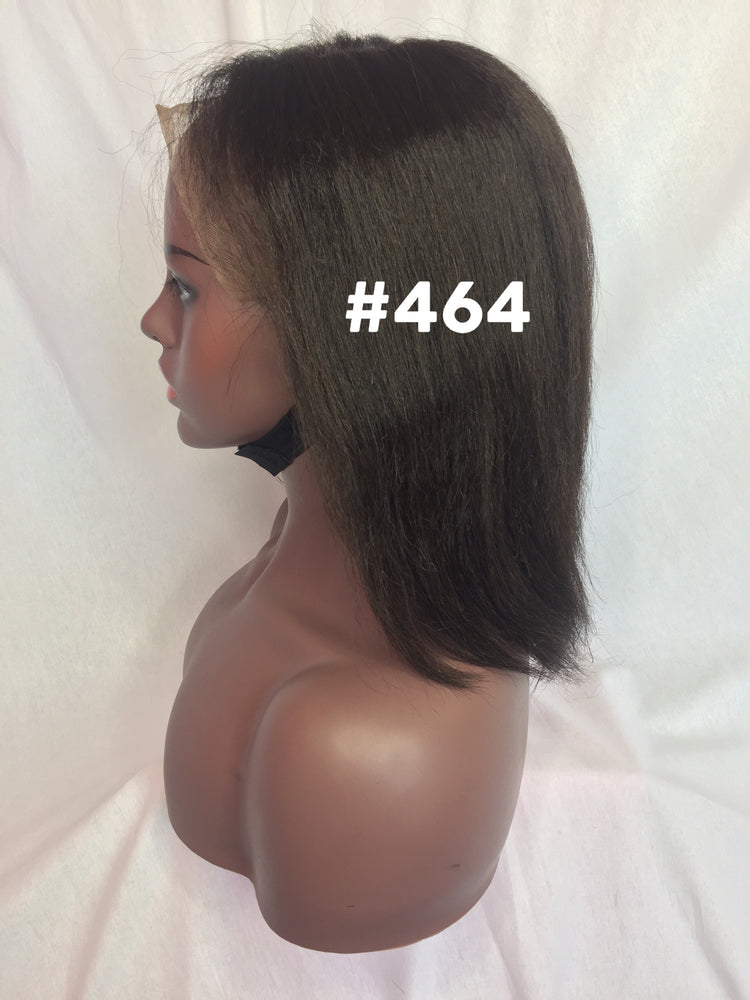 "10"", Kinky Straight , front lace, Natural color"