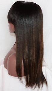 "Straight, 16"", Full lace, Custom Ombre Bangs"