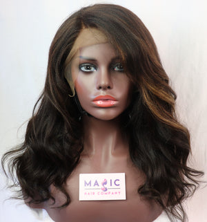 "yaki  Straight , 16"", full lace, Custom"