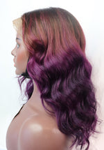 "12"", front lace, Custom colored   Purple Ombre"
