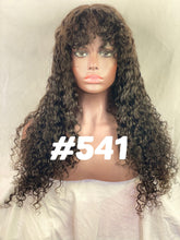 "Deep body wave, 22"", full lace, Jet Black bangs"