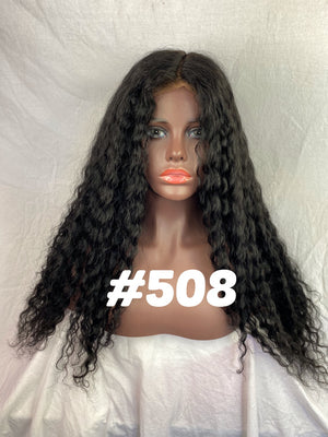 "Deep body wave, 22"", full lace, Jet black"