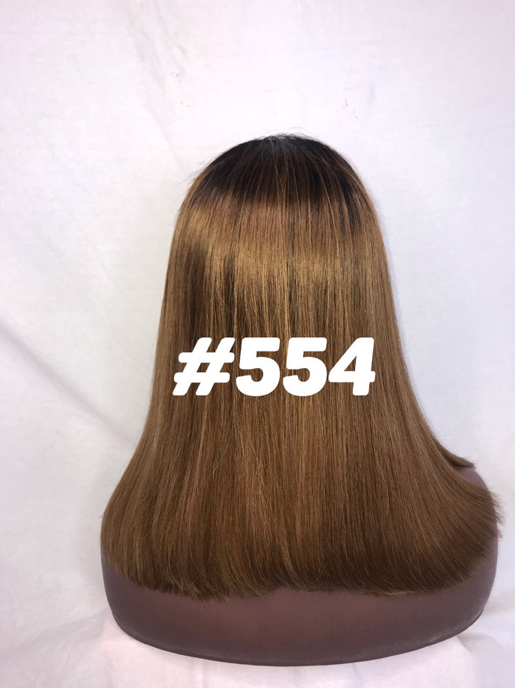 "Straight, 16"", front lace, Ombre"
