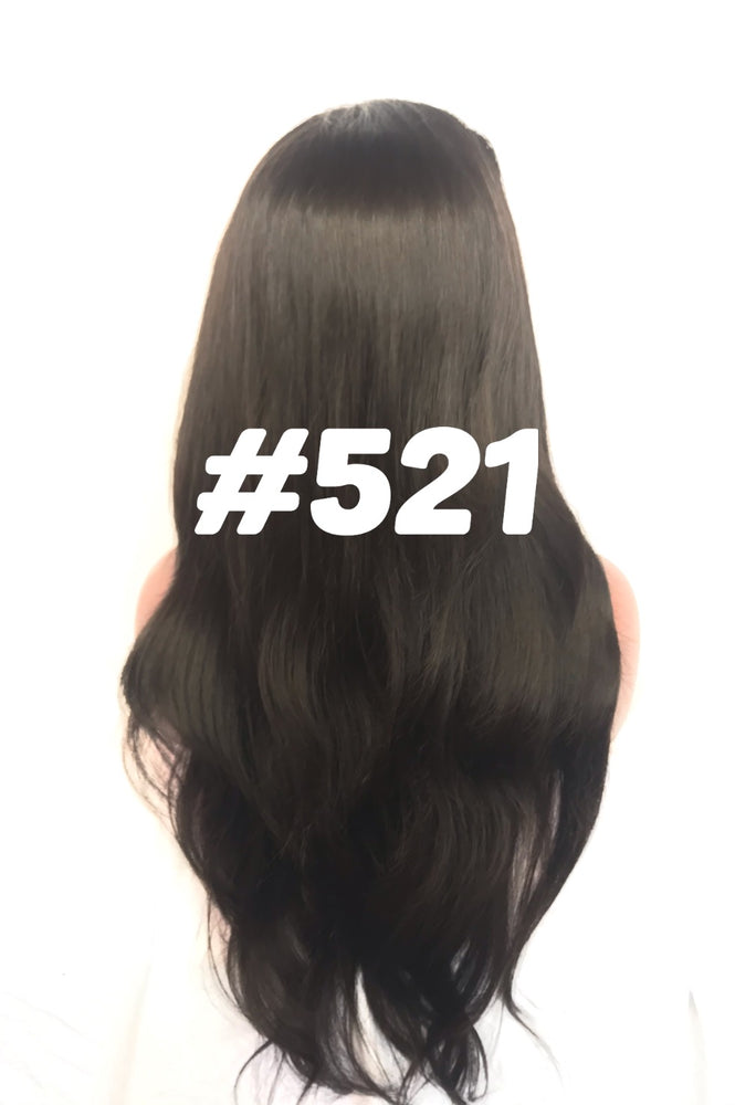 "Straight, 24"", front lace, Natural color"
