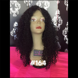 "22"", Full Lace, Jet Black, Curly"