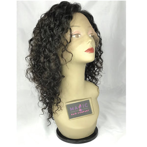 12 curly full lace natural 1b human hair glueless wig