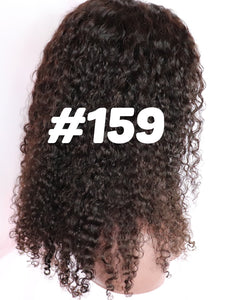 16 deep body wave full lace natural part human hair 1b glueless wig