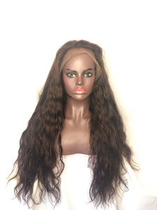 "body wave, 24"", Full lace, #4 brown"