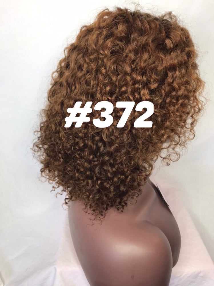 10 curly brown golden blonde front lace human hair ombre 1b root glueless wig