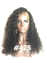 16 full lace human hair curly glueless natural 1b wig