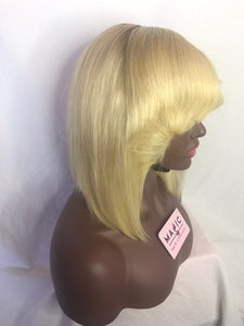 "10"", front lace, 613 Blonde with a Dark root Bob"