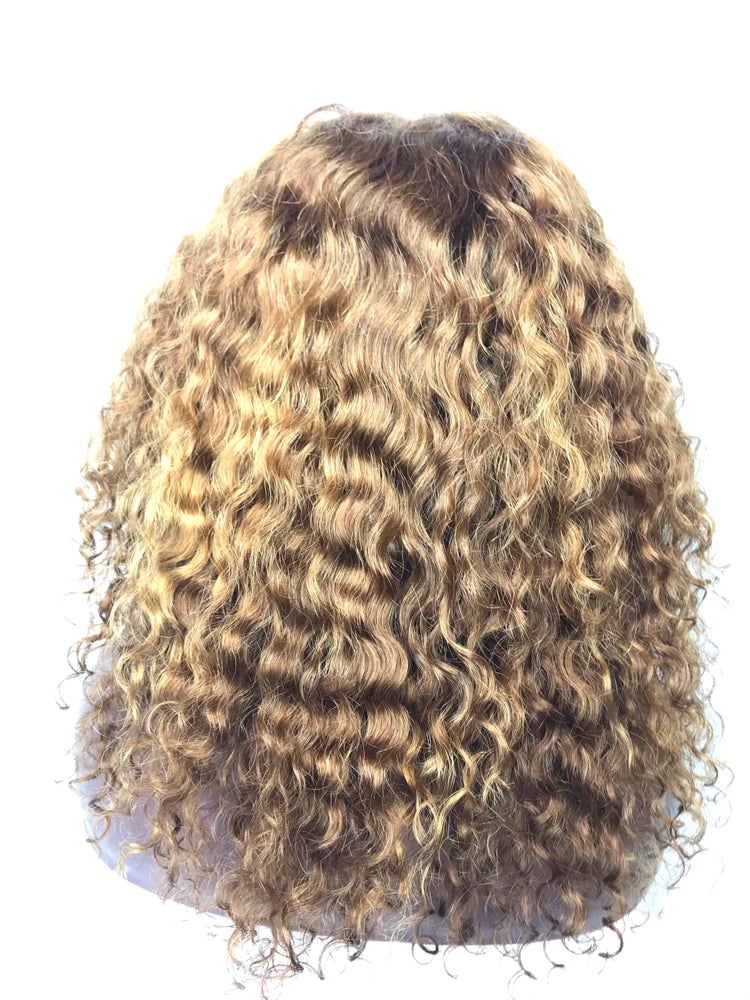 "12""Curly , Golden Blonde"