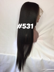 "Kinky Straight, 22"", front lace, Natural color"