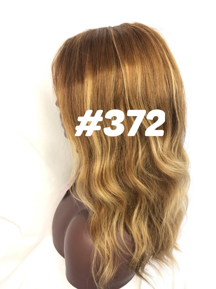 "12"", Straight, front lace, Ash Blonde/Brown"