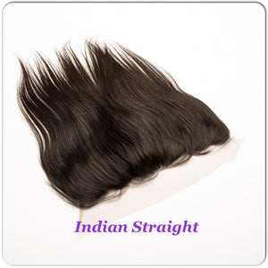 14 indian straight human hair free parting swiss lace frontal closure with baby hair