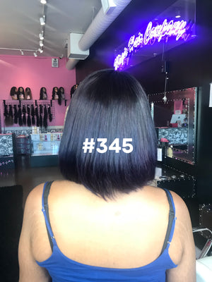 "12"", Silky Straight, Purple ombre, Front Lace"