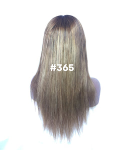 "16"", Silky Straight, Custom Med. Ash Ombre, Front Lace"