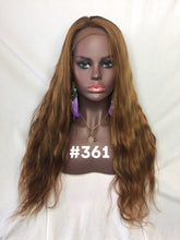 "Load image into Gallery viewer, 20"", Body Wave, Light brown with Golden Blonde Highlights, Front Lace"
