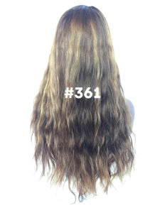 "20"", Body Wave, Light brown with Golden Blonde Highlights, Front Lace"