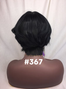 Short Style, Silky Straight, Blue Black