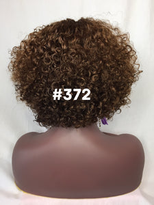 "10"", Curly, Brown and Golden Blonde, Front Lace"