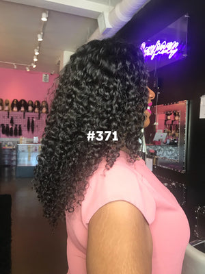 "20"", Curly, 1b, Full Lace, 180%"