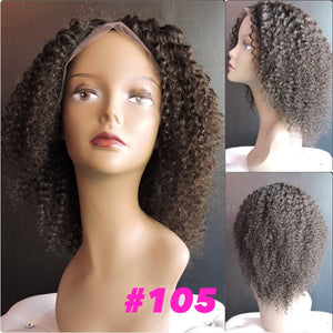 "10"" Kinky Curly, Full Lace"