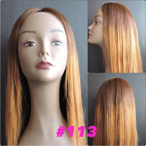 "20"" Silky Straight #6/4 , Front Lace"