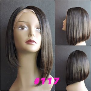 High Low Bob Silky Straight, Front Lace