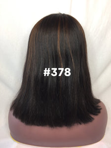 "12"", Silky Straight, Front Lace"