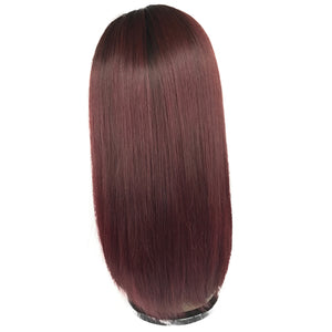 "14"" Front lace, Silky Straight, 150% density"