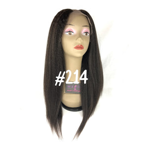 "16"", Kinky Straight, U-Part, Full Lace"
