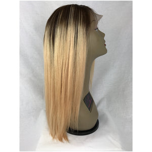 "18"", Wave,  #2/blonde ombre, Front Lace"