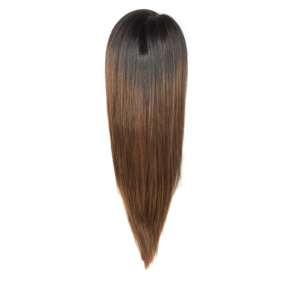 "16"", front lace, silky straight"