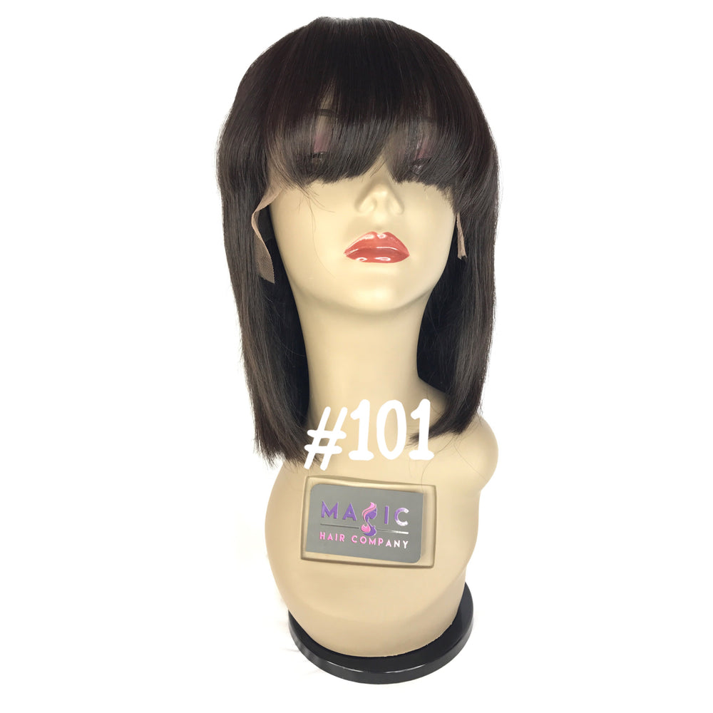 "10"", Silky Straight, Bangs, Front Lace"