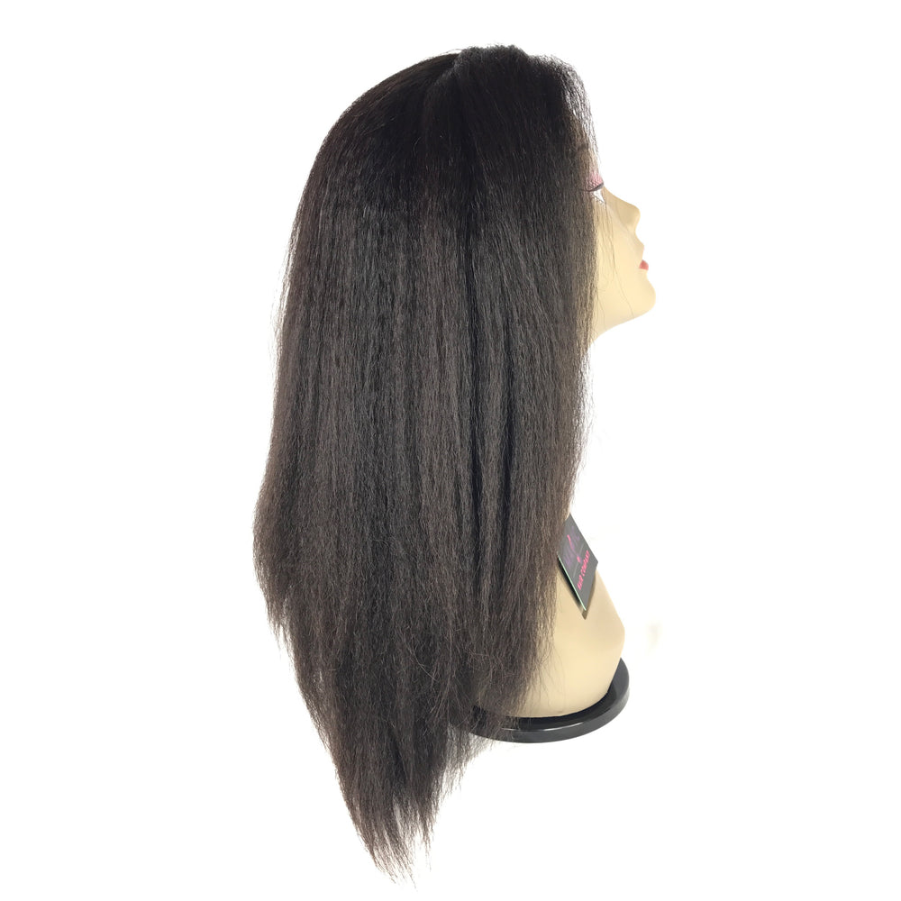 "14"", Full lace, Kinky Straight"