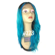 "14"", Front lace, Slight Wave, Blue"
