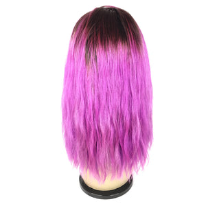 "12"", Silky Straight, custom purple"