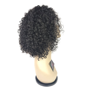 10 curly front lace human hair 1b natural glueless wig