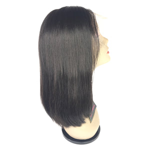 "14"" Silky Straight, front lace, middle part"