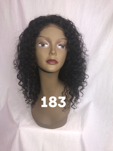 14 curly front lace glueless wig 1b swiss lace