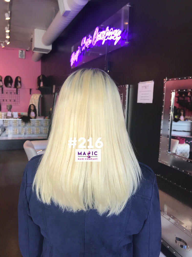 "14"", Silky Straight, #613/blonde, Front Lace"