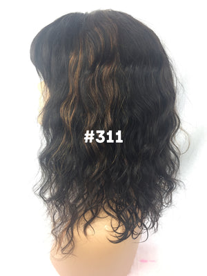 "14"", Body Wave, Bangs, Highlights, Front Lace"